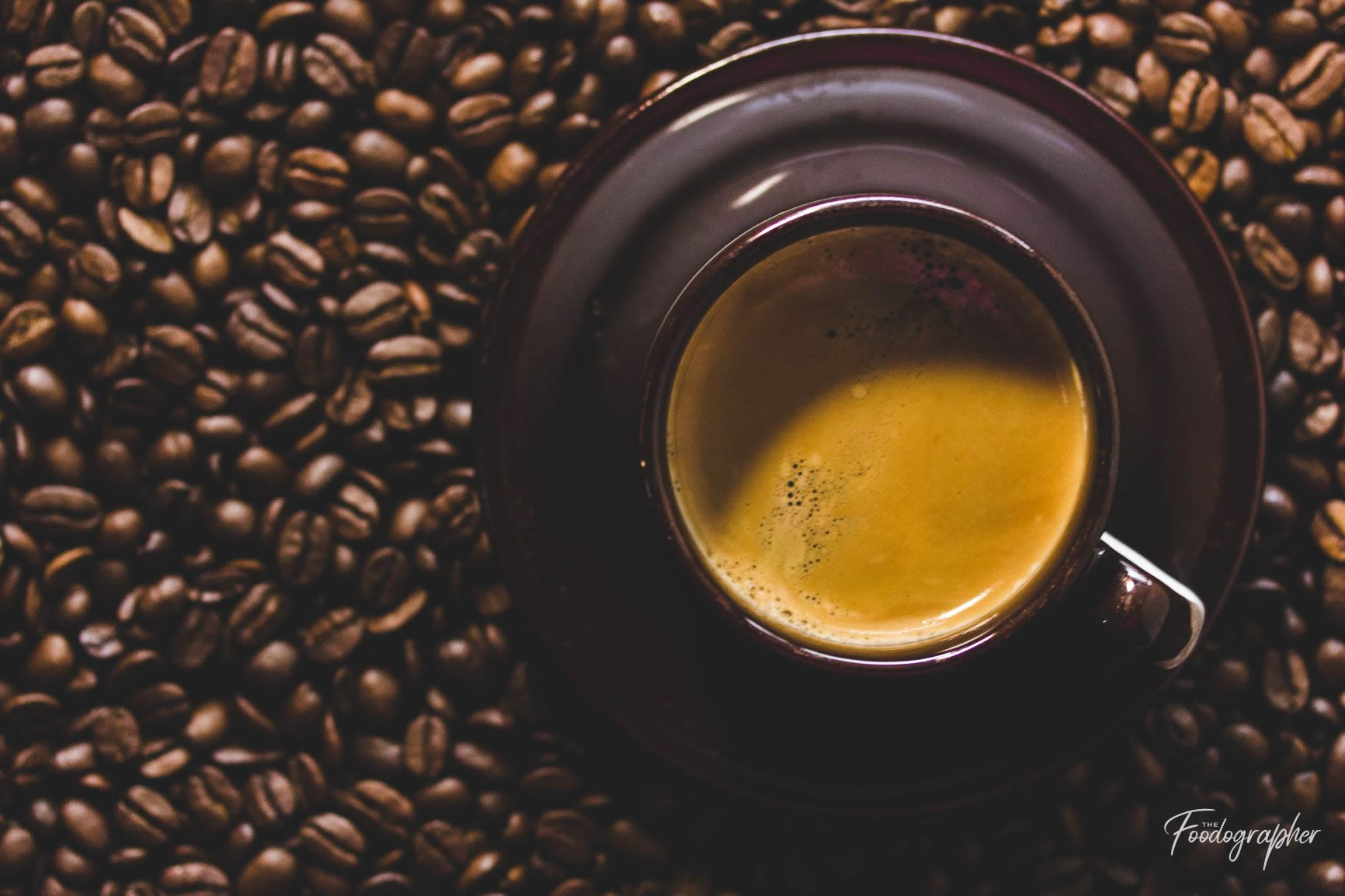 Double Shot Espresso with Coffee Beans
